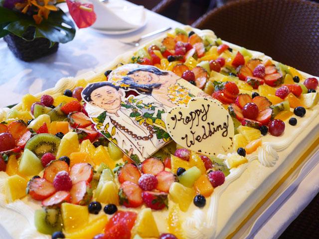 ハワイアンスタイル パーティー ケーキ