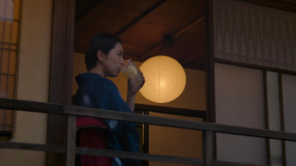 麒麟特製レモンサワー 中村アン ショートヘア浴衣姿
