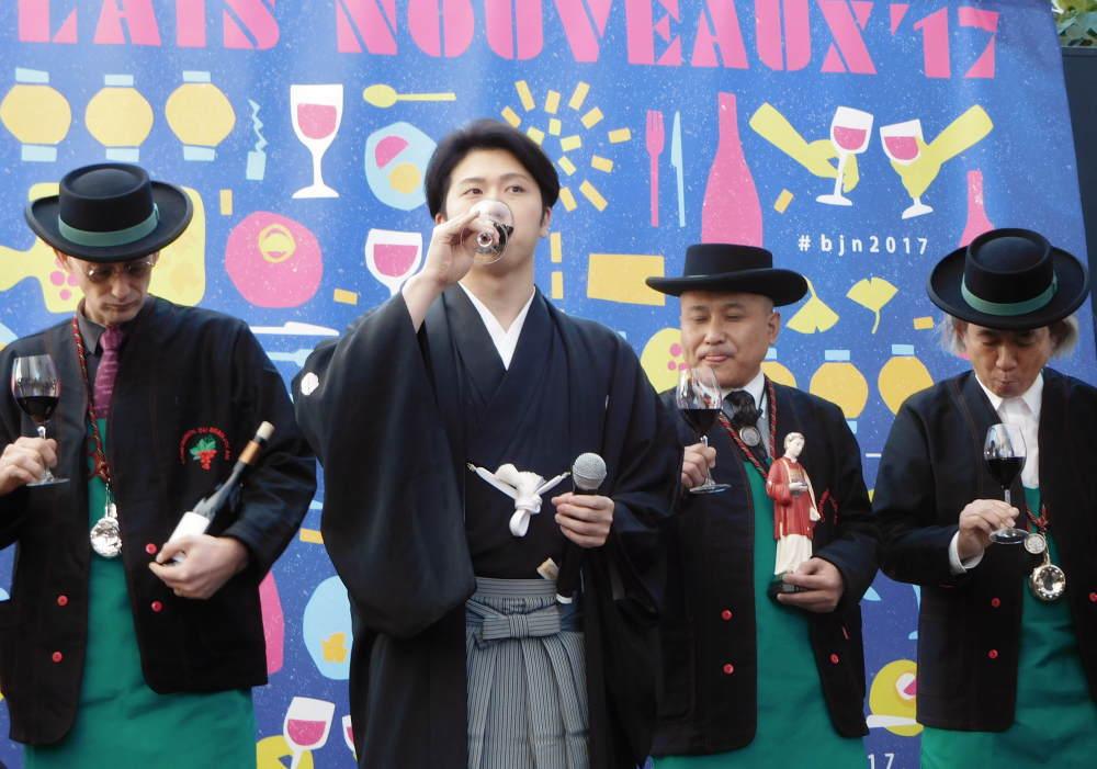 BEAUJOLAIS MATSURIにて歌舞伎俳優 尾上松也さんが乾杯