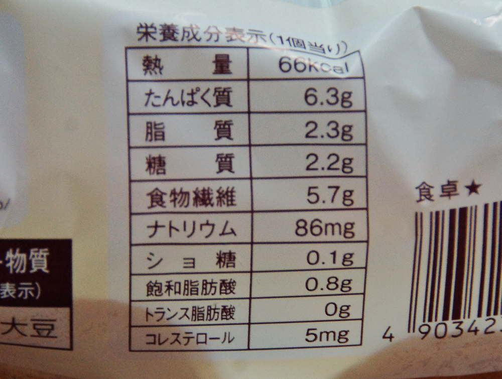 ナチュラルローソン 糖質制限パン ふすまパン カロリー 成分表