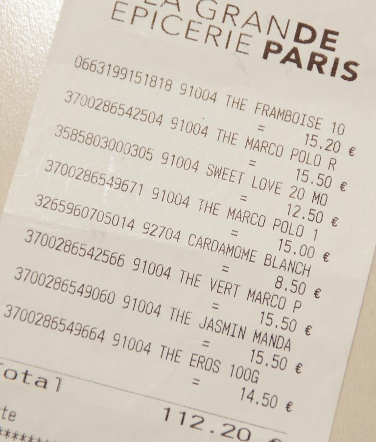 パリ 紅茶 値段