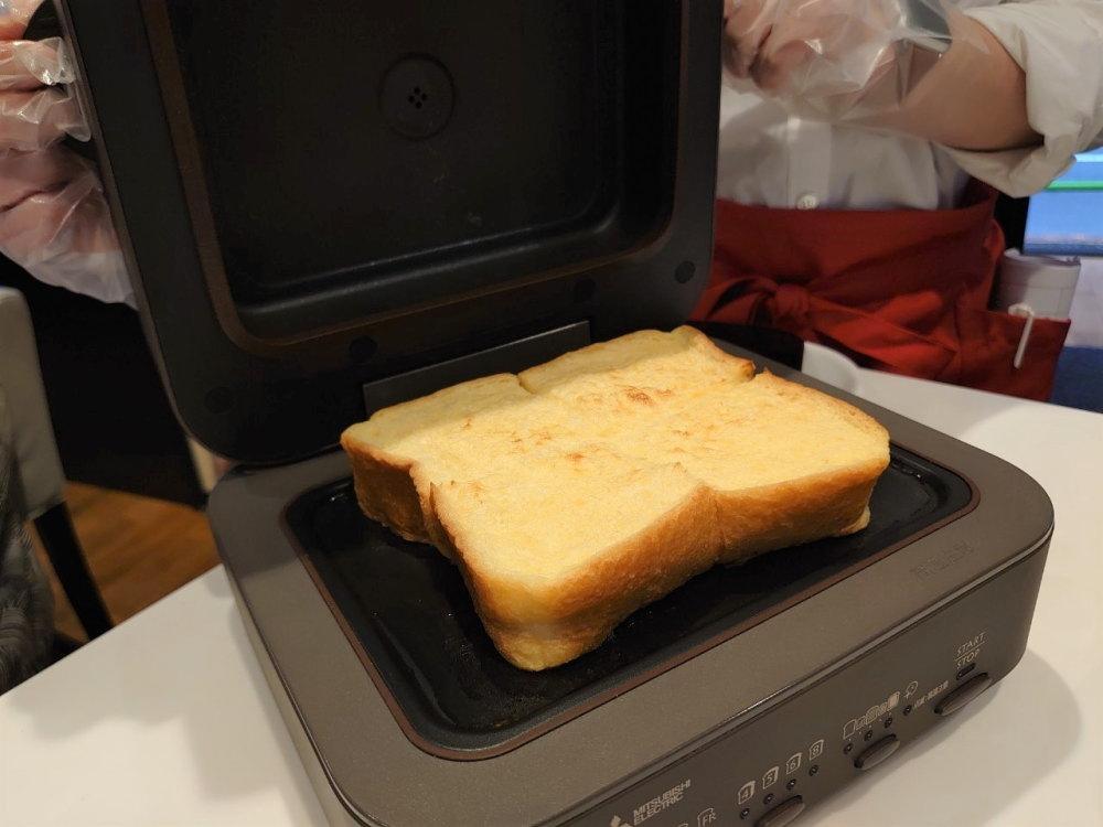 三菱電機「ブレッドオーブン」でフレンチトースト