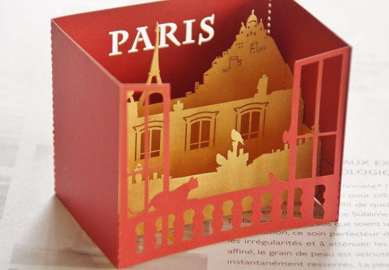 立体ポップアート パリ 文房具