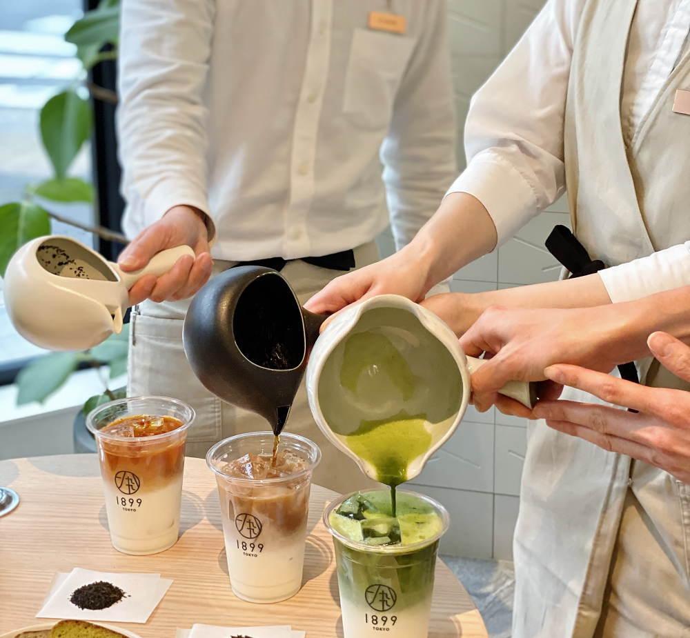 茶バリエ(プロ)が一煎ずつたてる抹茶ラテ