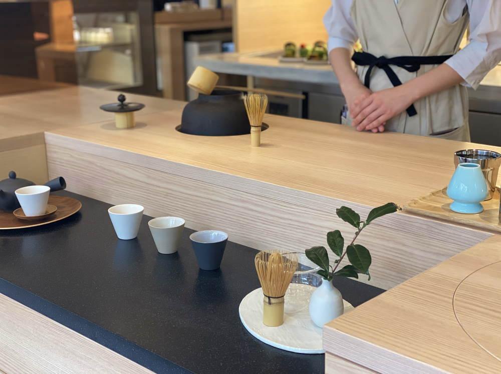 お茶専用カウンター