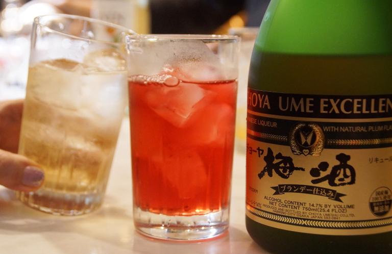 梅酒カクテルレシピ クランベリージュース