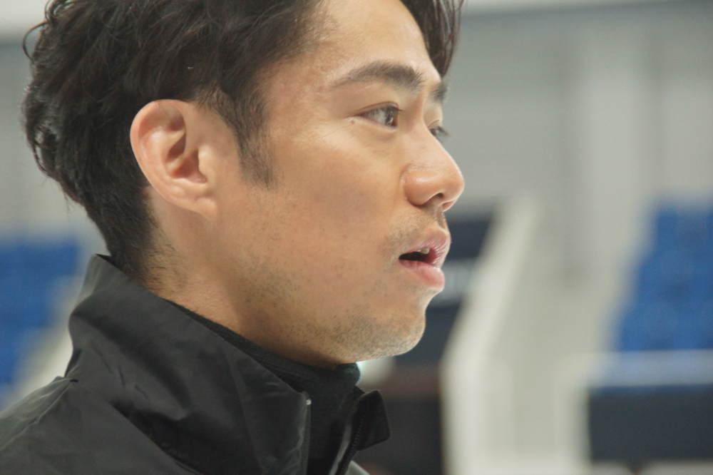 高橋大輔 スケート教室の様子