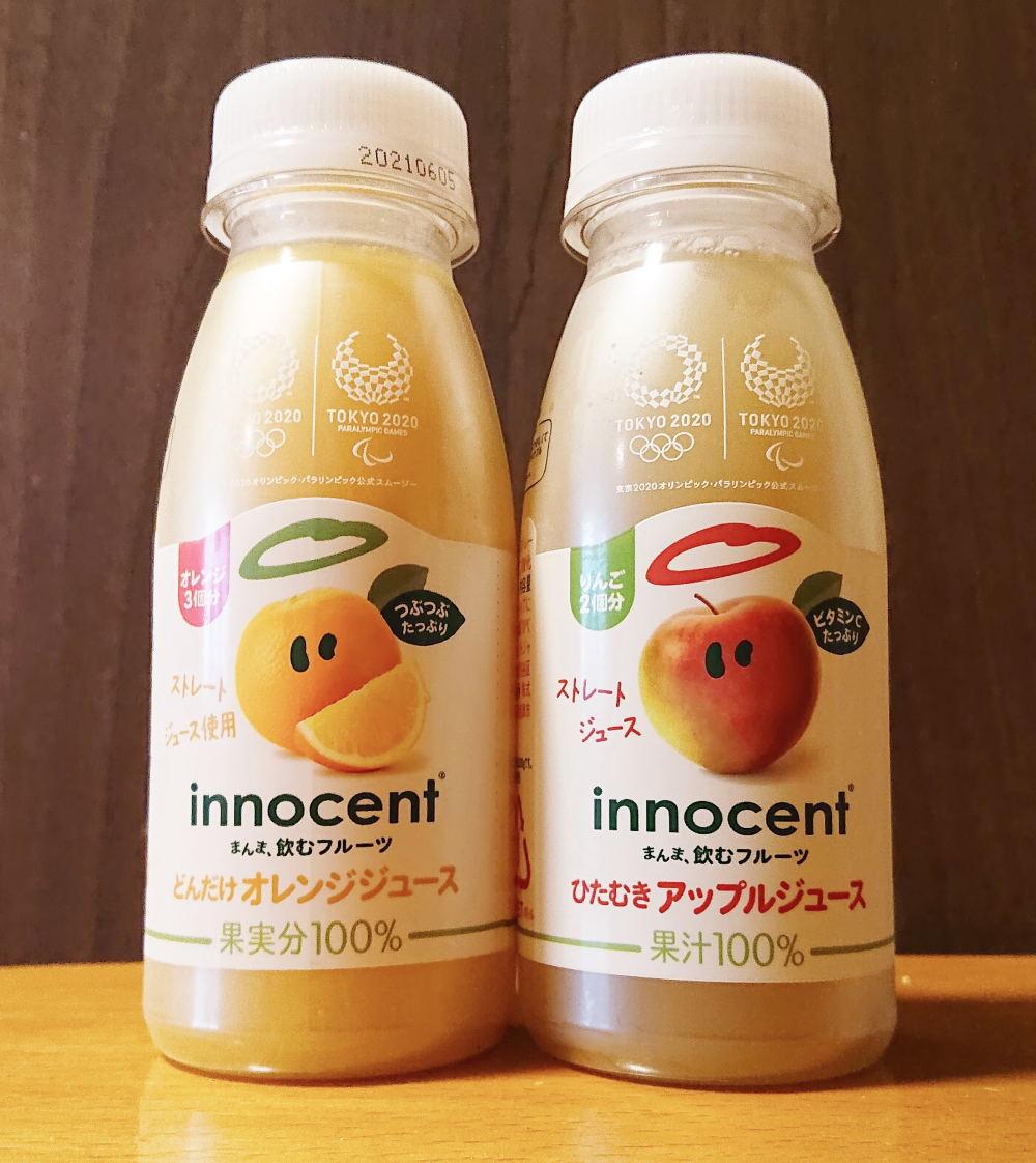 『どんだけオレンジジュース』と『ひたむきアップルジュース』飲んでみた