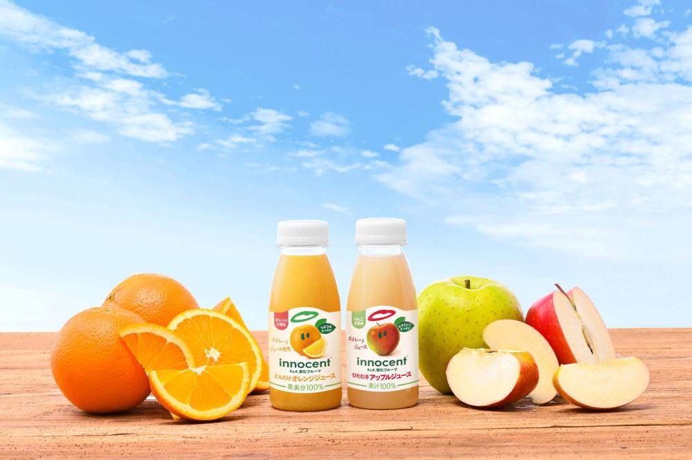 『どんだけオレンジジュース』と『ひたむきアップルジュース』