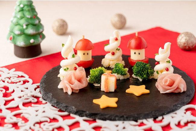 ドラゴンポテトをアレンジしたクリスマスプレート