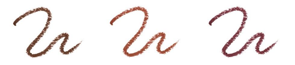 サナ ニューボーン クリーミーアイペンシルEX 3色比較