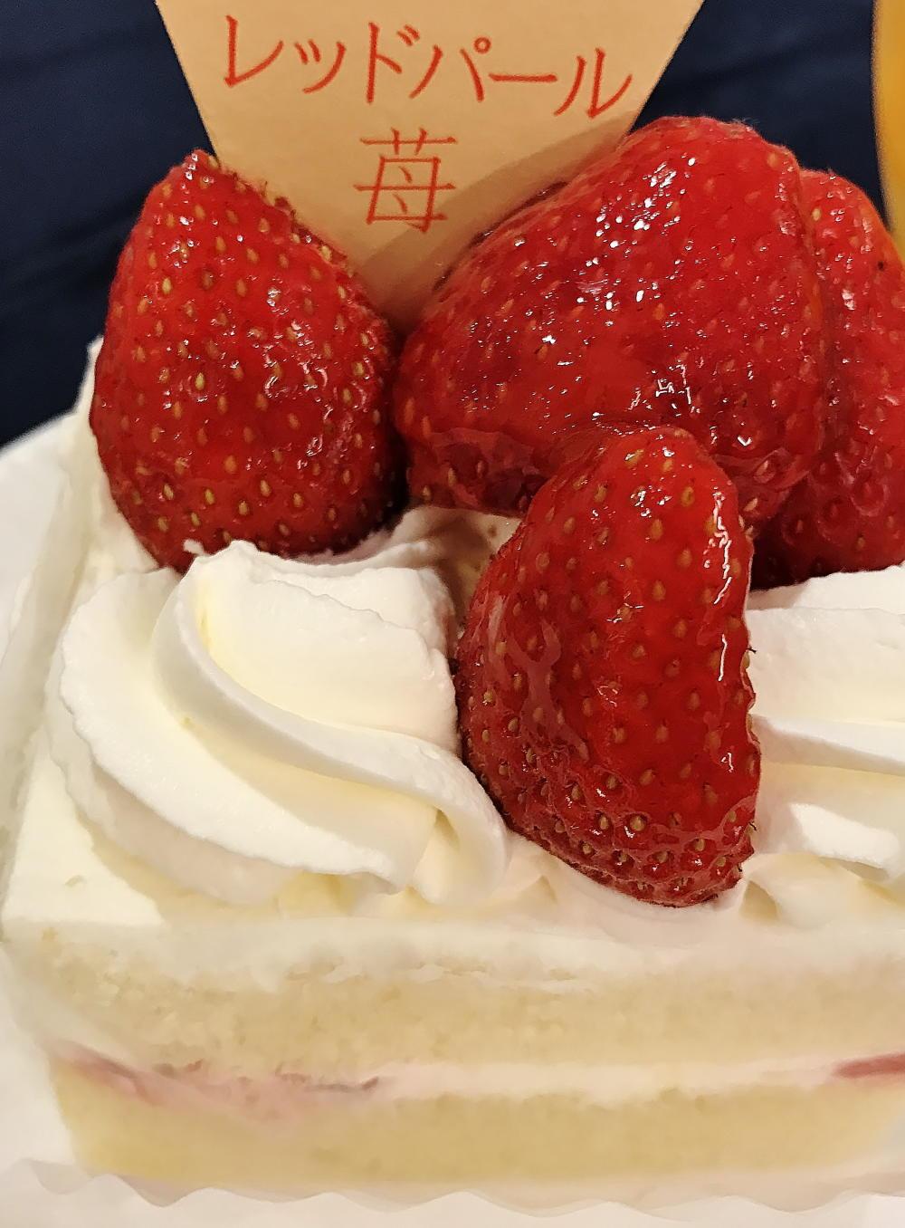 三重県産レッドパールと阿寒湖酪農家のショートケーキ