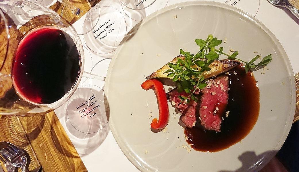 黒毛和牛上クリ肉のロースト黒トリュフ香るマディラのソース