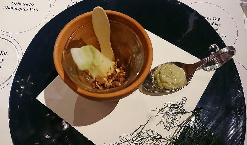 ェンネルの鉢植え仕立て味噌とサワークリームのディップ添え
