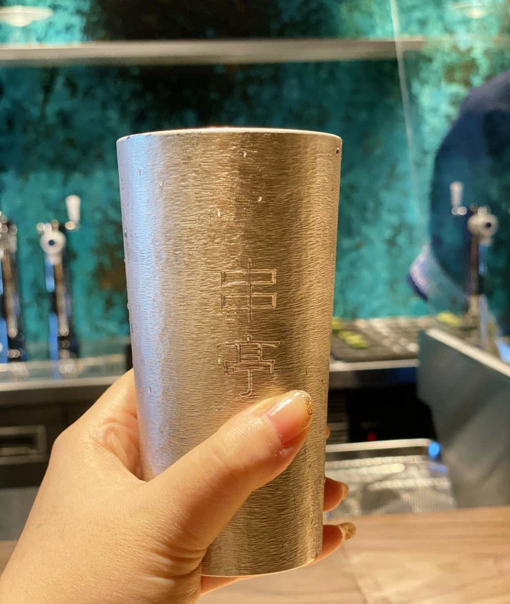 錫のグラス 串亭
