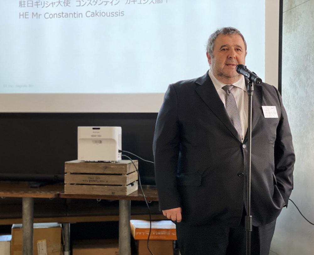 駐日ギリシャ大使Mr Cakioussis閣下