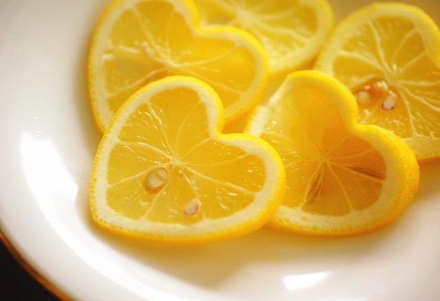 ハート型レモン 写真