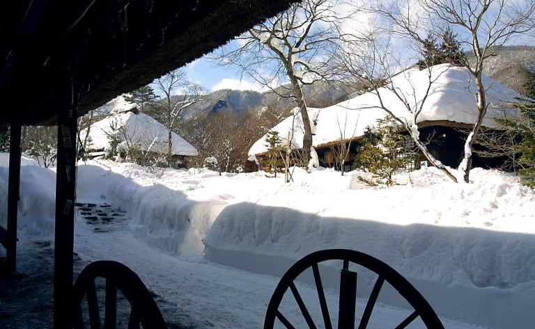 平家の里 雪景色