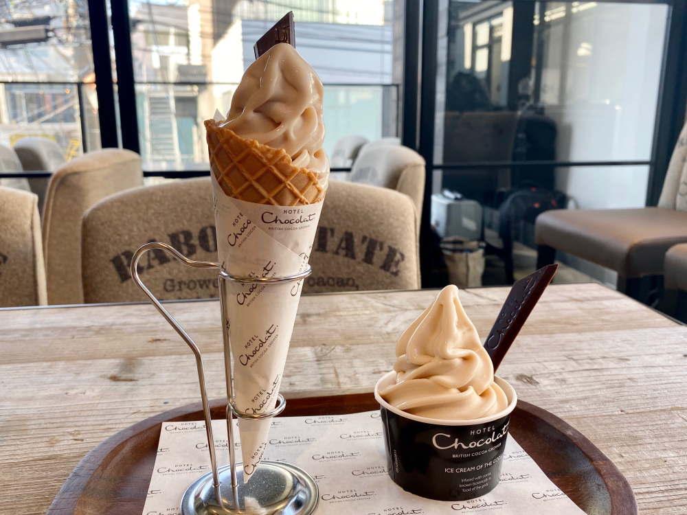 ホテルショコラのソフトクリーム