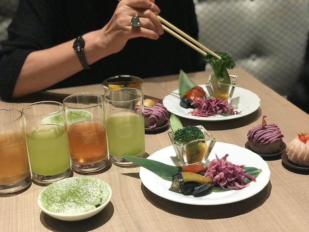渋谷ヒカリエ 伊右衛門カフェ プレス内覧会 試食会にて