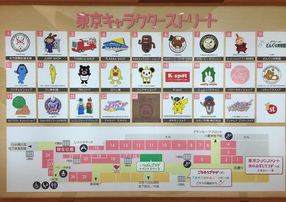 東京キャラクターストリート ショップ一覧