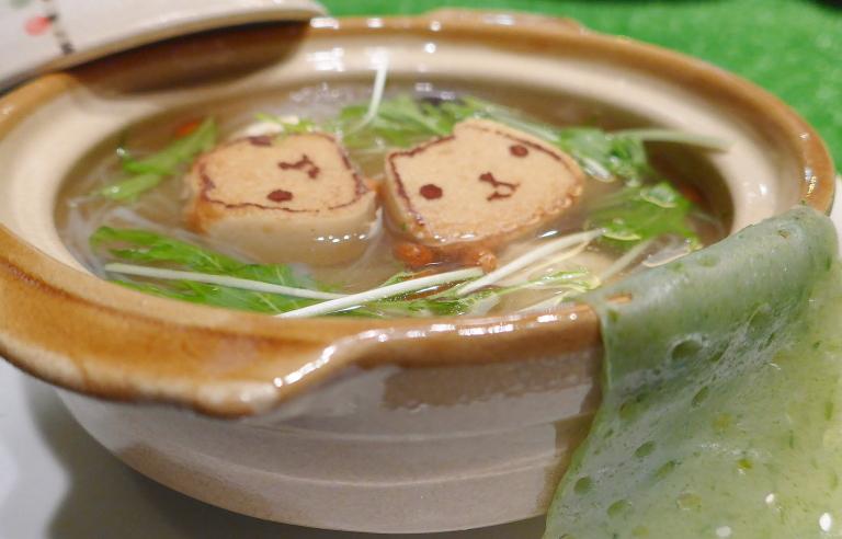 仔カピのほっこりあったか温泉スープ