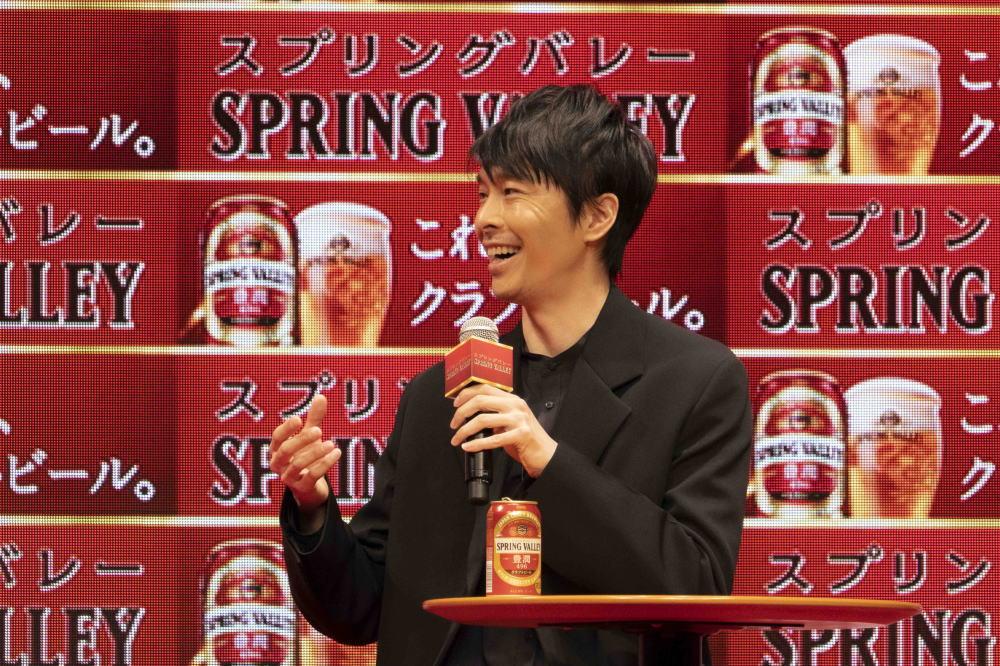 長谷川博己「スプリングバレー発売記念発表会」