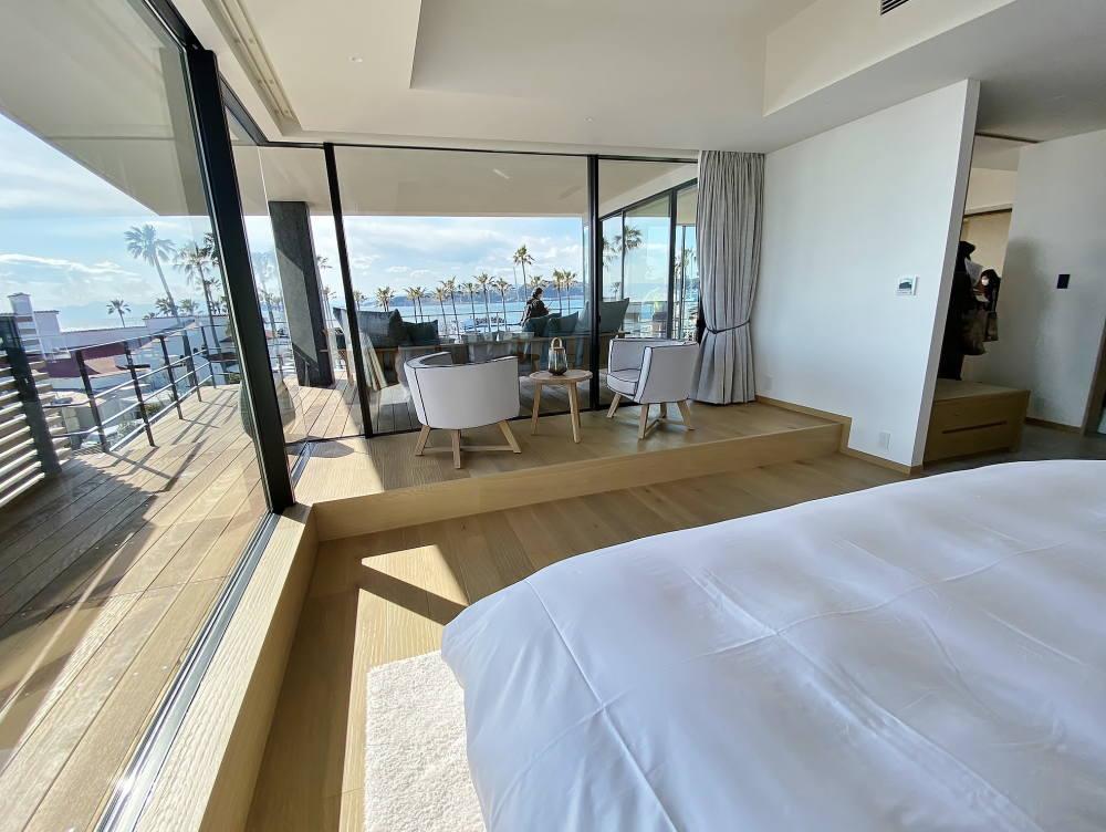 マリブホテル スイートルームのベッドルーム