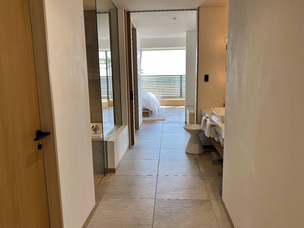 マリブホテル スイートルームの洗面エリア