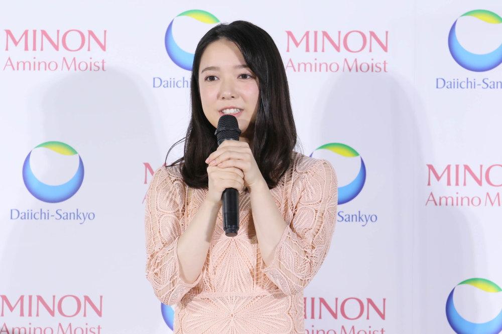 ミノンCM発表会にて 上白石萌音