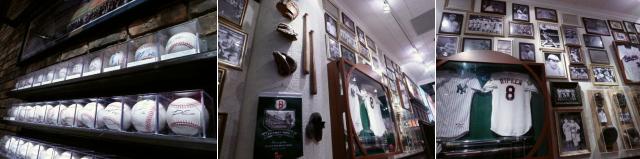 MLBの記念すべきグローブやバッド、ユニフォームがずらり