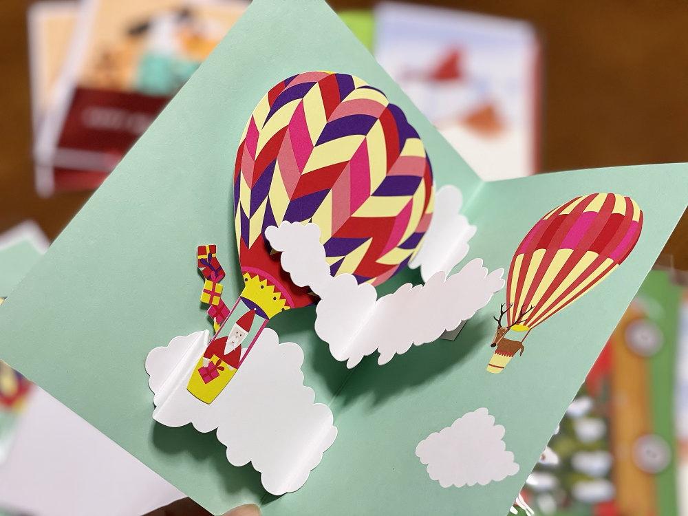 MOMA クリスマスカード 気球
