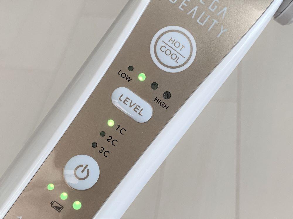 美顔器「メガビューティー」 ボタン