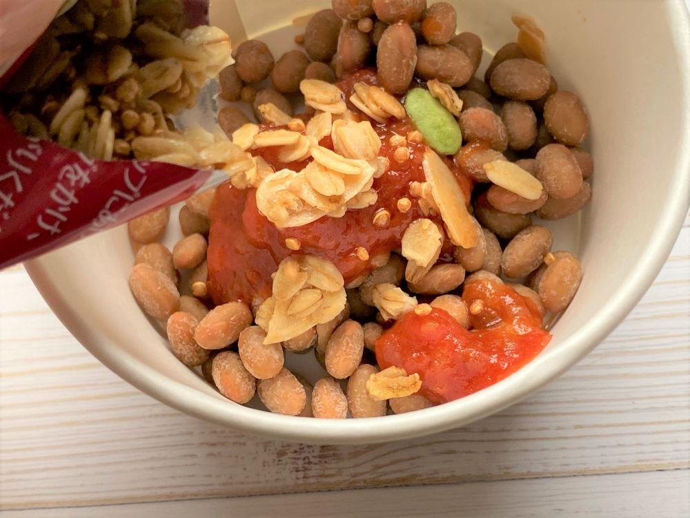 美納豆 トマト トッピング