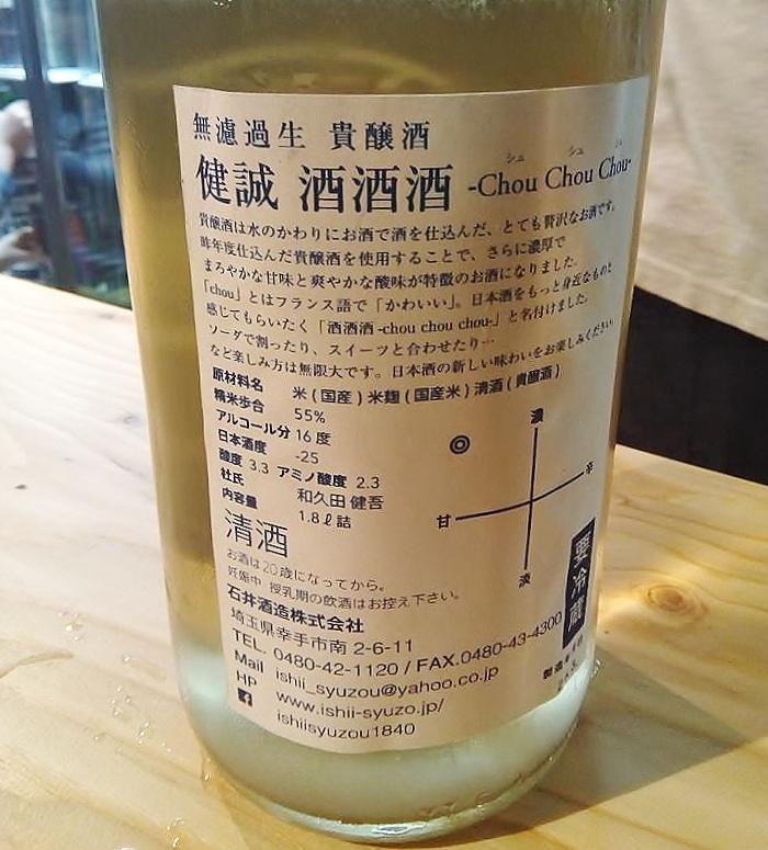 石井酒造 健誠 酒酒酒 口コミ