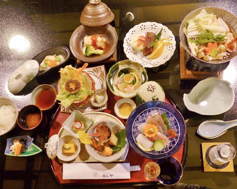 有福温泉 旅館ぬしや 夕食