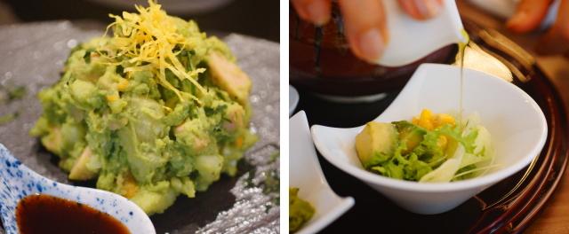 抹茶を使った緑のポテトサラダ
