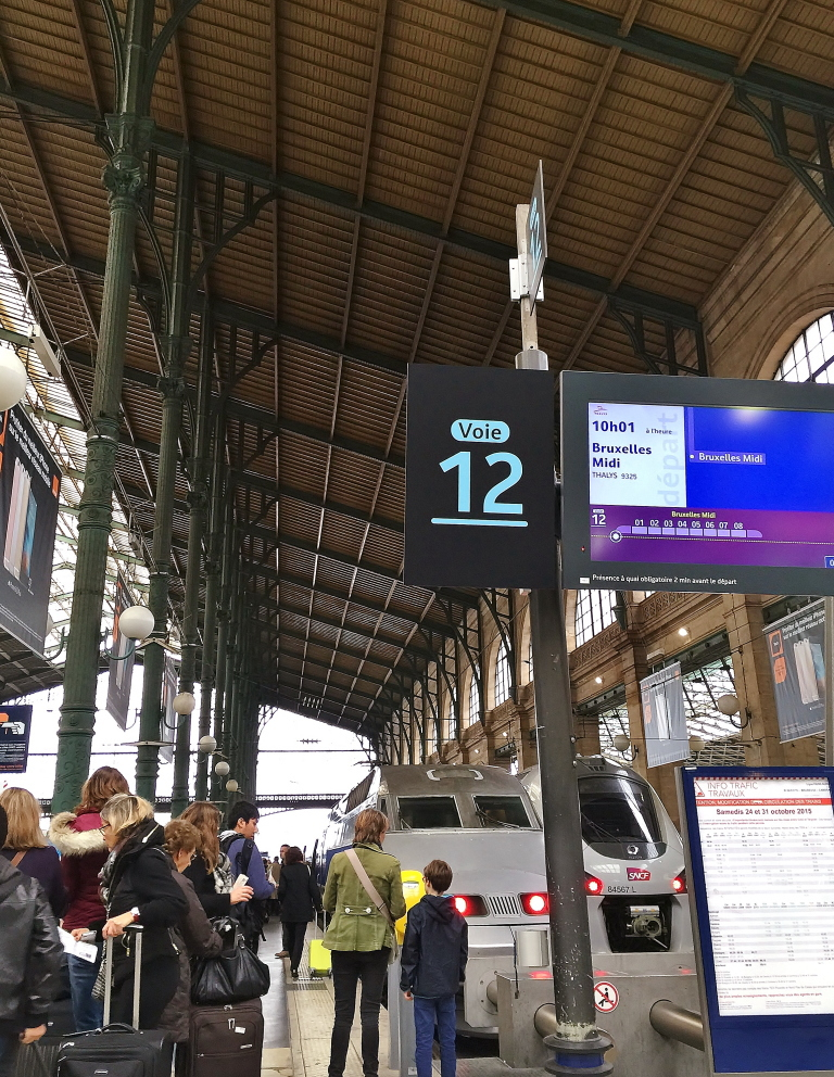 「パリ北駅」(Paris Nord)