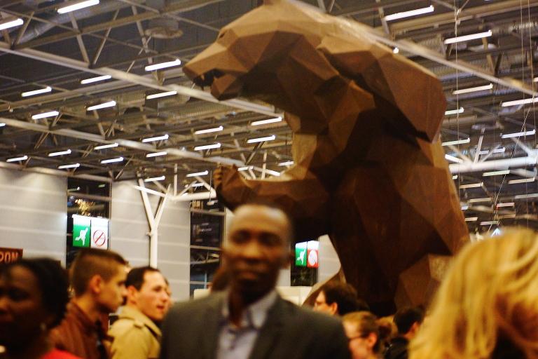 サロンデュショコラ パリ チョコレートの像 クマ