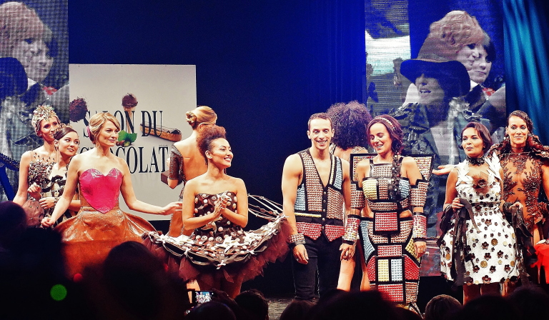サロンデュショコラパリ ファッションショー