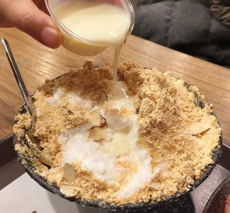 きな粉のかき氷 韓国