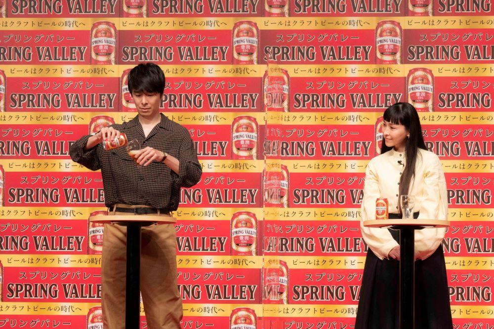 スプリングバレー 祝杯会 長谷川博己、原田泰造、麻生久美子