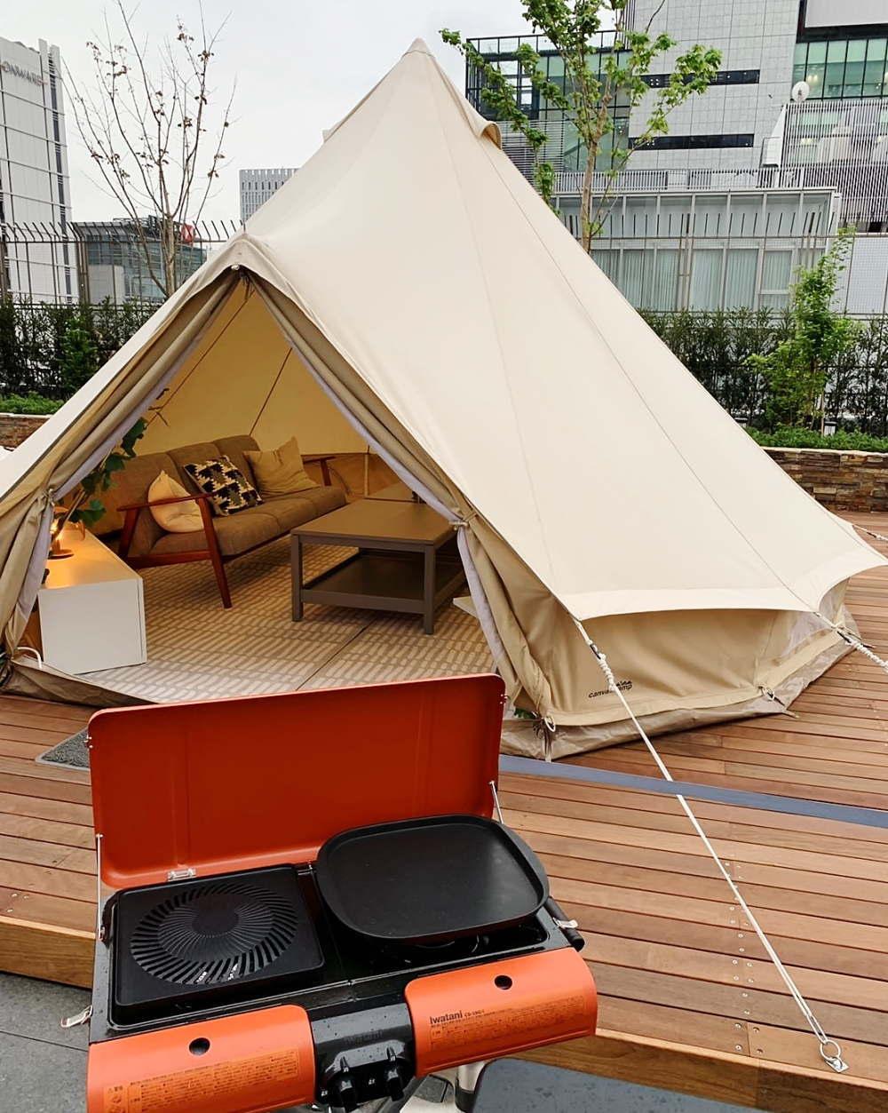 高島屋ビアガーデン テントの中の様子