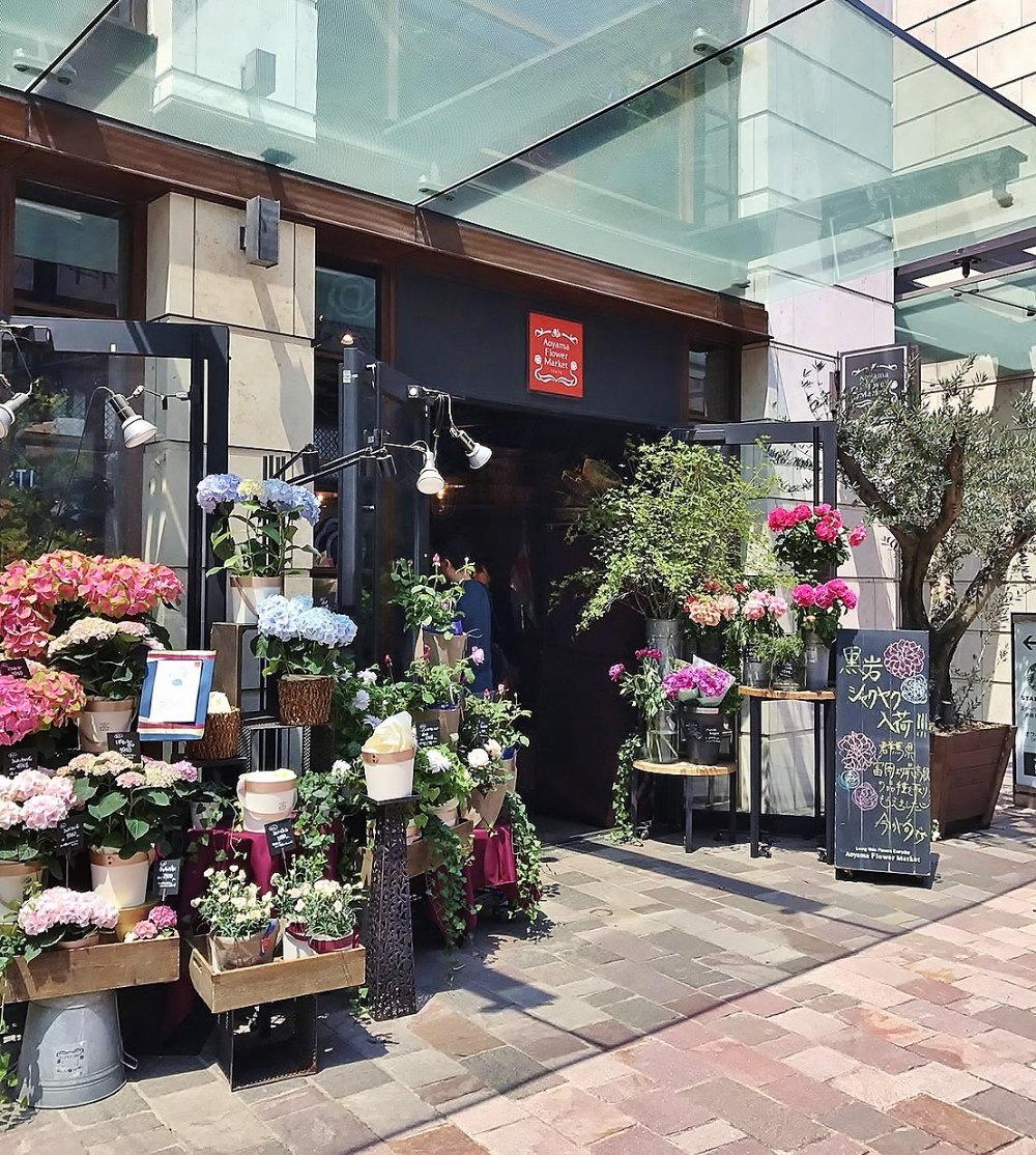青山フラワーマーケットのカフェ