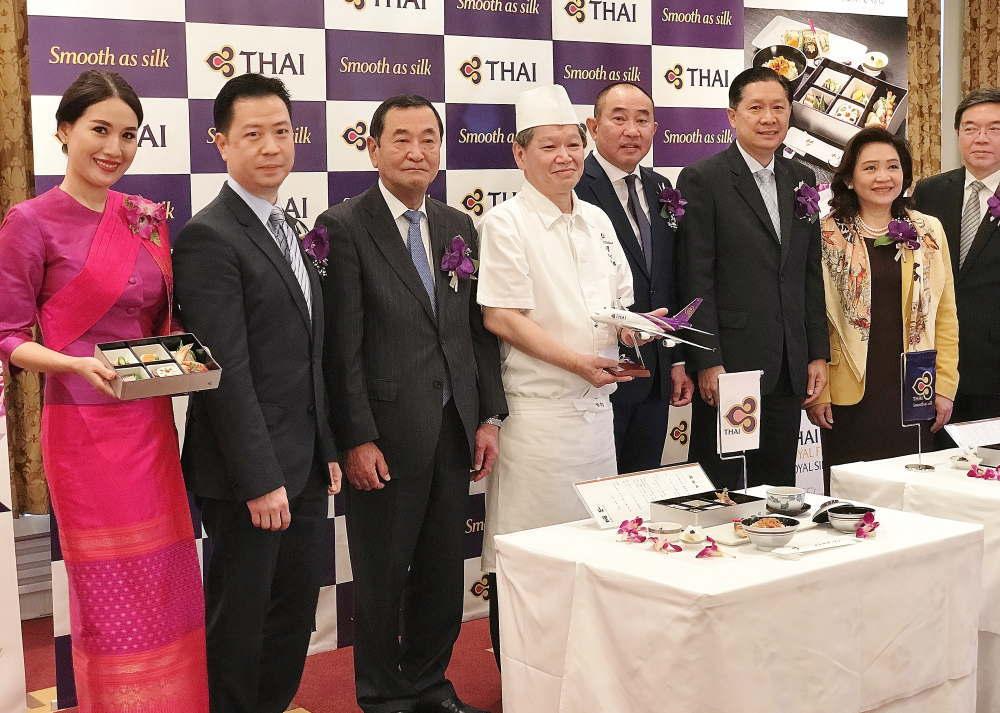 タイ国際航空 機内食発表会 ホテルオークラ東京