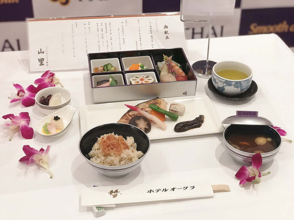 タイ国際航空 ファーストクラスの機内食