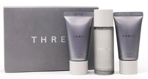 THREE スリー フォー・メン ジェントリング トライアルキット 洗顔フォーム 化粧水 乳液 セット
