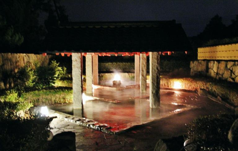 鳥取 米子 皆生温泉 温泉 露天風呂 写真