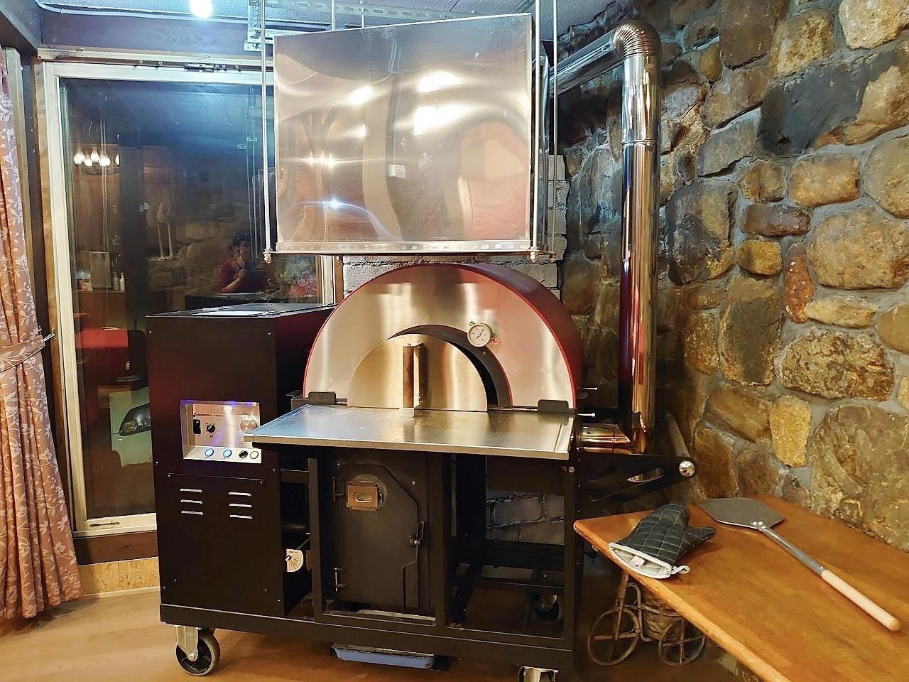 ペレットストーブのピザ窯