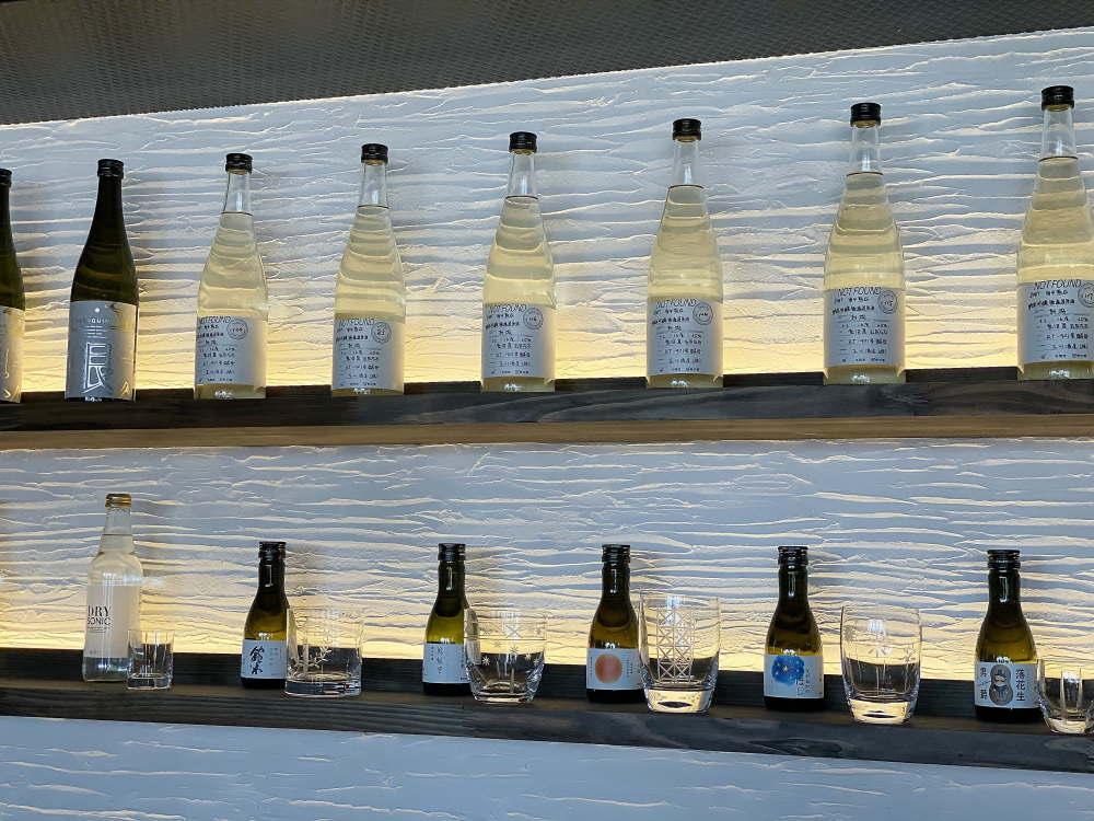 浅草「和色」お酒のラインナップ